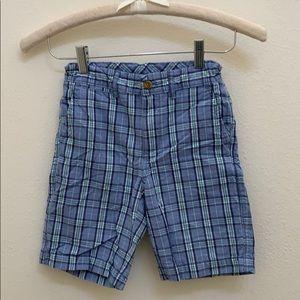 Johnnie-O Boys Blue Plaid Shorts